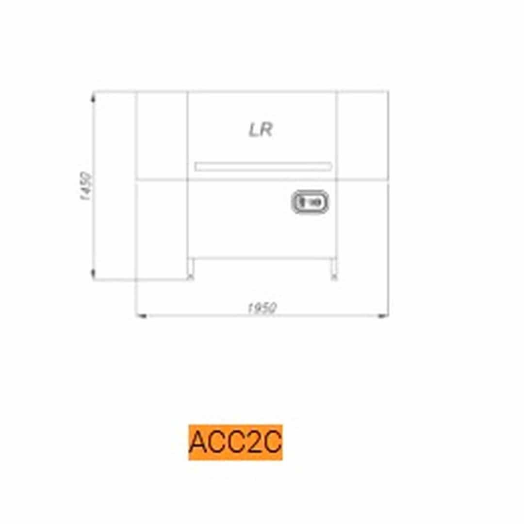 Машина мойки ящиков Comenda ACC2C LR Сушка 600мм 2 части