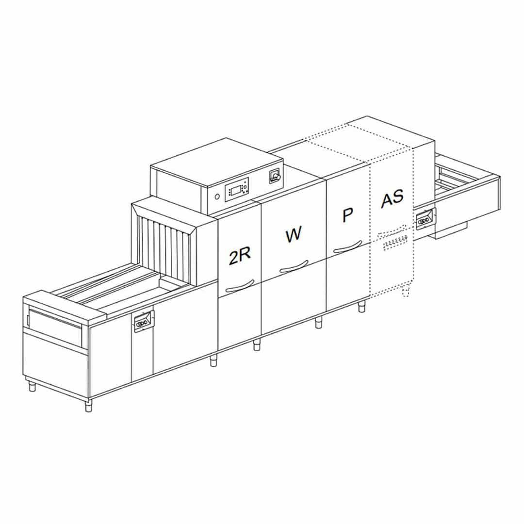 Машина посудомоечная Dihr QX 376 SX+DDE+DRF69+ID+HRF20 2 ЧАСТИ