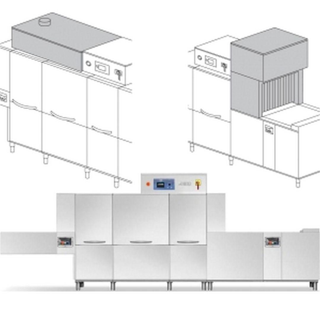 Машина посудомоечная Dihr QX 536 DX+DDE+DRF99M+HRF20+СПЕЦЛЕНТА 2 ЧАСТИ